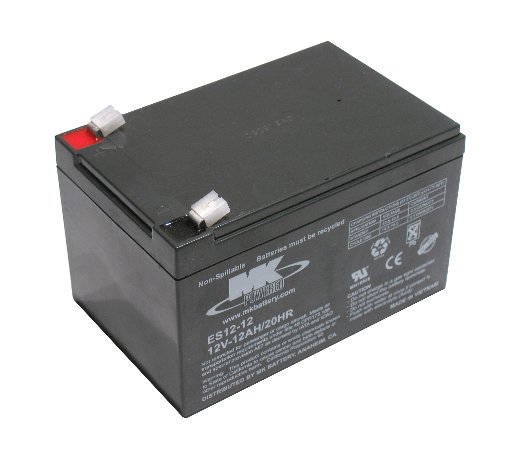 12 volt 12AH MK AGM mobility scooter Battery