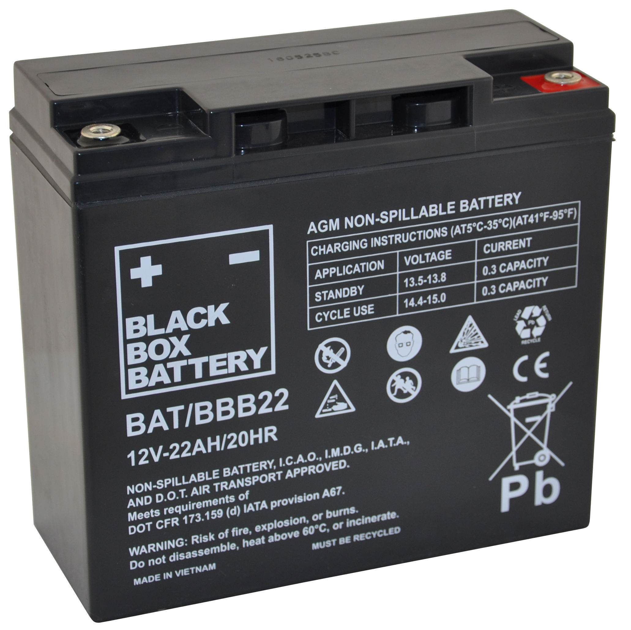 12V 22ah Deep Cycle Mobility Battery