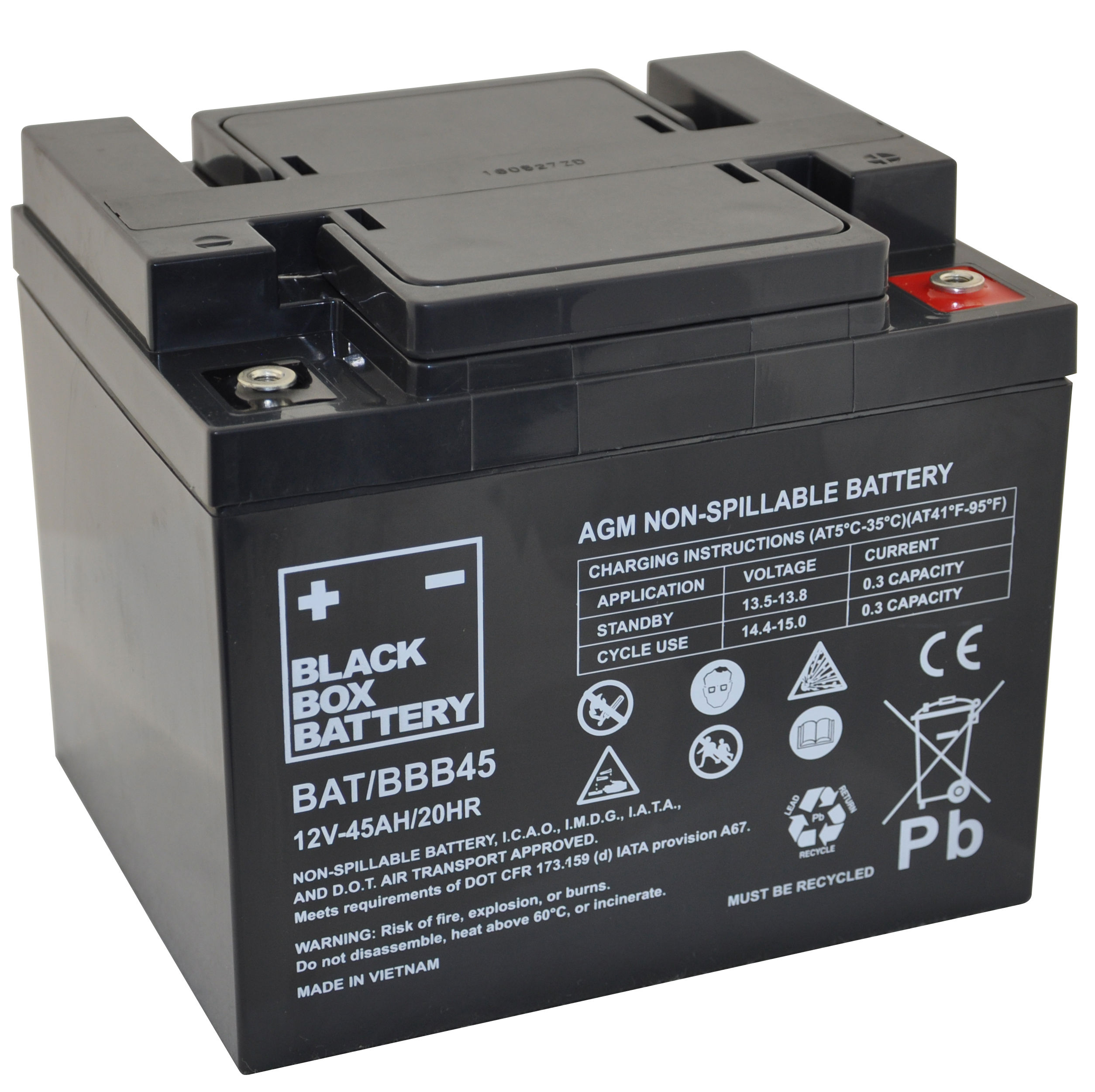 12v 45ah Deep Cycle Mobility Battery