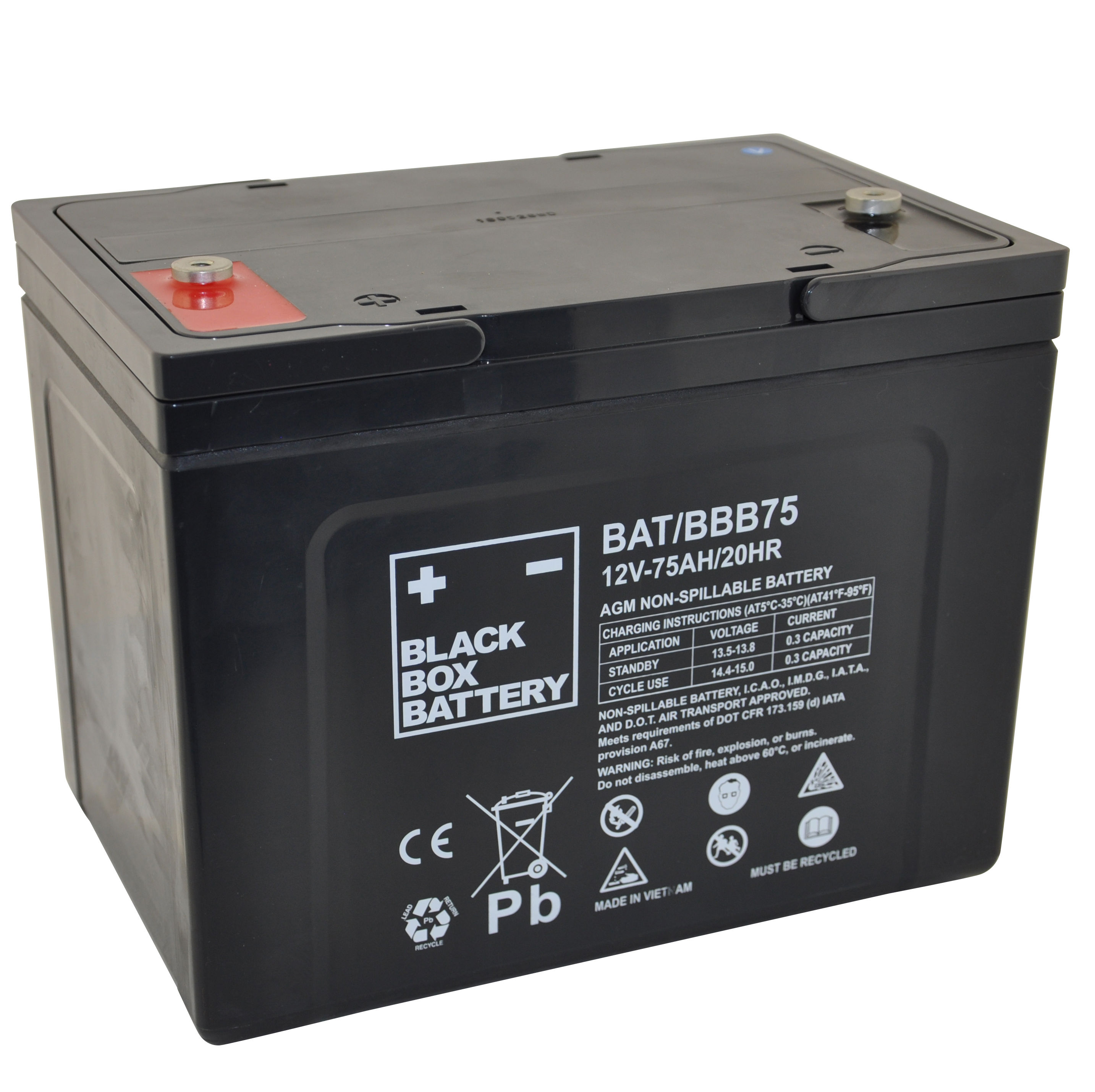 12v 75ah Deep Cycle Mobility Battery