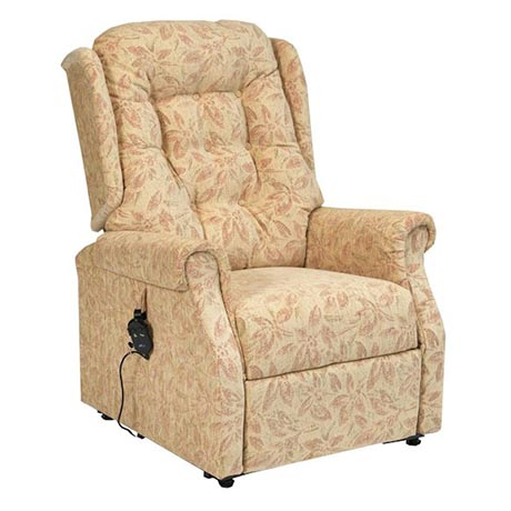 Dallas Rise and Recline Chair in Cream Upholstery