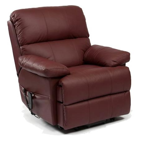 The Hatfield rise and recline chair in brown leather