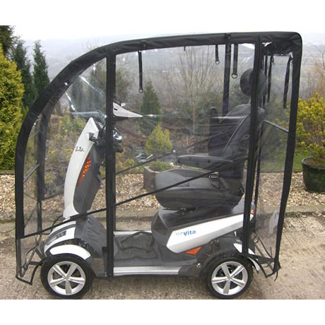An all window mobility scooter canopy fitted onto a TGA Vita  sc 1 st  Lifelight Mobility & All Window Canopy